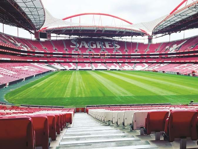 As bancadas do Estádio da Luz