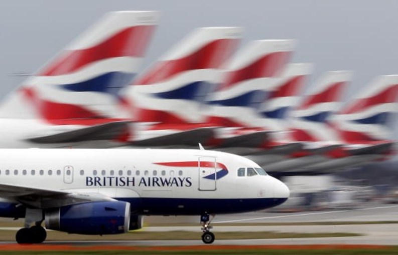 Avião da British Airways