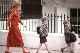 Princesa Diana e os príncipes William e Harry