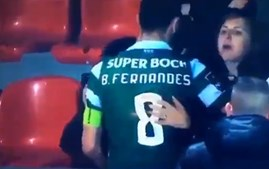 Adepta do Aves tenta agredir Bruno Fernandes no final do jogo